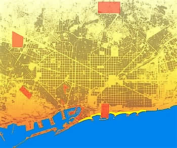 Lamas Eixample District - Barcelona map eixample district